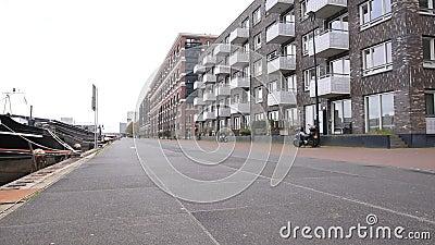 Veemkade Street at Amsterdam Niederlande 2020 stock footage