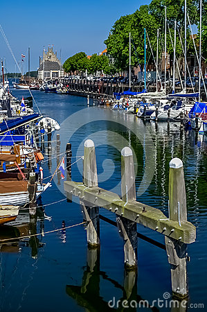 Veere harbour in the Netherlands Editorial Photography