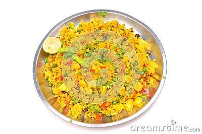 Veg Gujarati Poha Dish Royalty Free Stock Photo - Image: 10035005