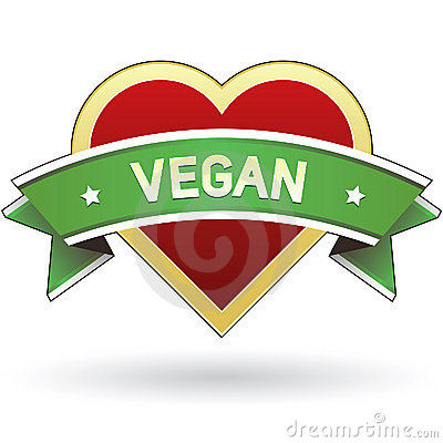Vegan food label sticker