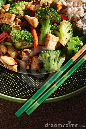 Free Vegan Stir Fry Royalty Free Stock Photos - 4932448