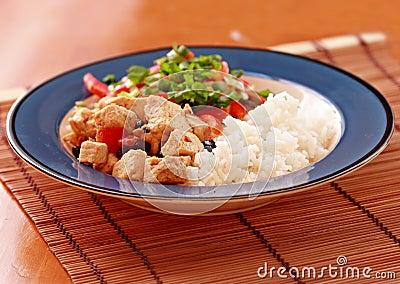 Vegan tofu dish