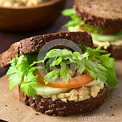 Free Vegan Wholegrain Sandwich Royalty Free Stock Images - 78025559