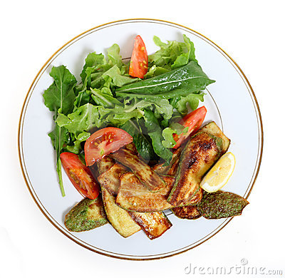 Vegan zucchini meal