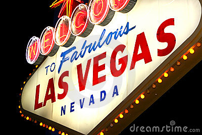 Vegas σημαδιών νύχτας