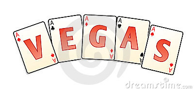 Vegas cards isolated