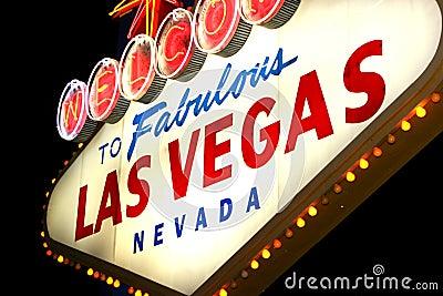 Vegas night sign
