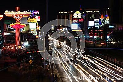 Vegas night traffic Editorial Photography