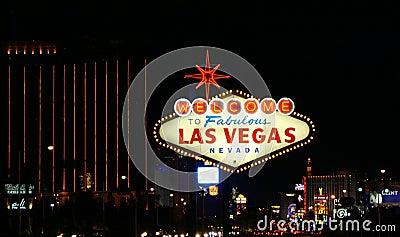 Vegas Sign Editorial Image