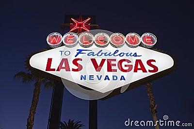 Vegas Sign Night