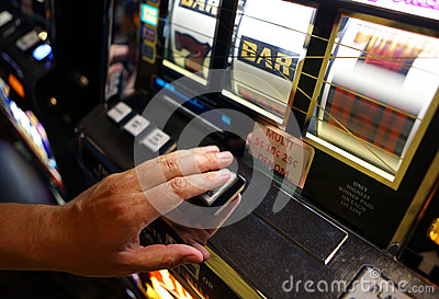 Vegas Slot Machine Editorial Stock Photo