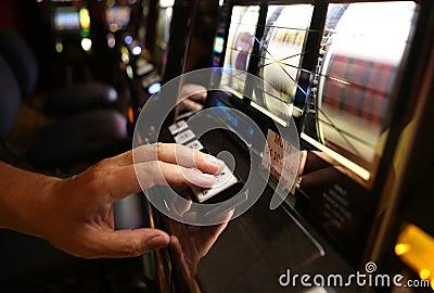 Vegas Slot Machine Editorial Image