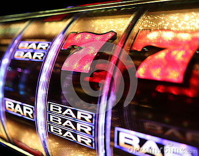 Vegas Slot Machine Editorial Photography