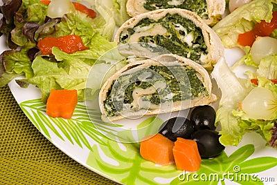 Vegetable arrollado