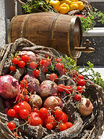 Vegetable Basket and Wine Cask