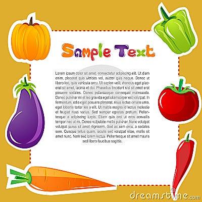 Vegetable card