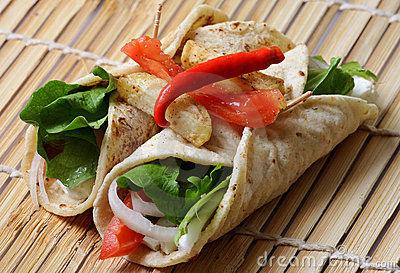 Vegetable chapatti rolls