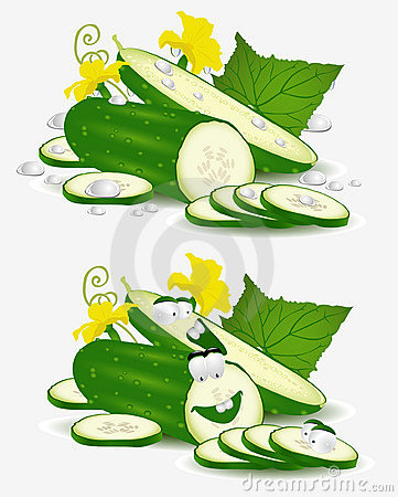 Vegetable character cucumber