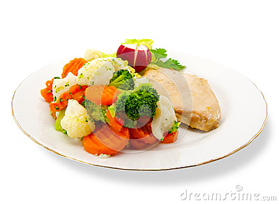 Vegetable and chicken