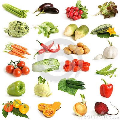Free Vegetable Collection Royalty Free Stock Image - 25270736
