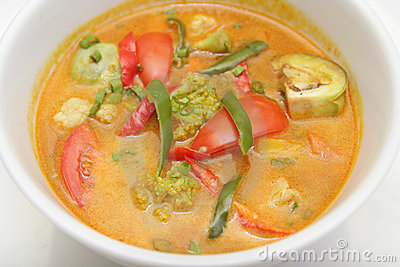 Vegetable curry asia food