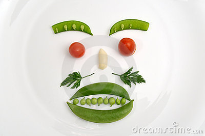 Vegetable Face Royalty Free Stock Images - Image: 7836129