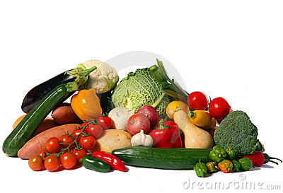 Vegetable harvest isolated