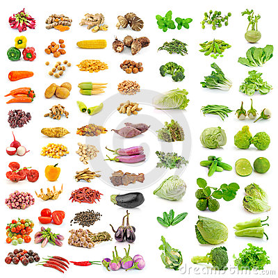 Free Vegetable, Herb, Spices Isolated On White Background Royalty Free Stock Photos - 43702918