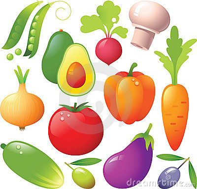 Free Vegetable Icons Royalty Free Stock Photos - 8218848