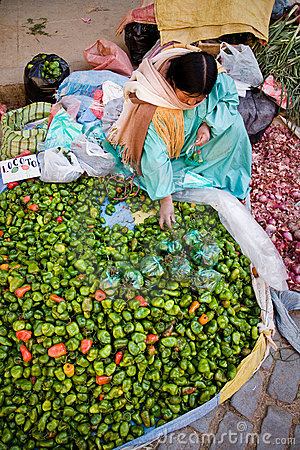 Vegetable Market, Bolivia Royalty Free Stock Photography - Image: 18144637