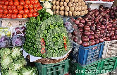Vegetable market. Egypt