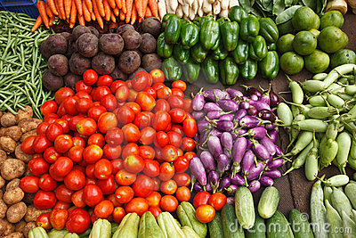 Vegetable market. India