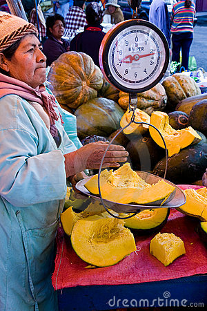 Vegetable Market, La Paz Editorial Photography