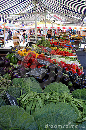 Vegetable market stand