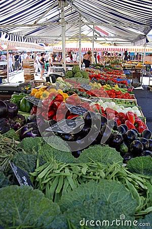 Vegetable market stand