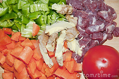 vegetable and meat