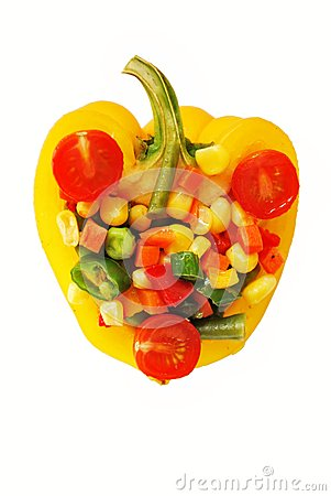 vegetable mix in pepper