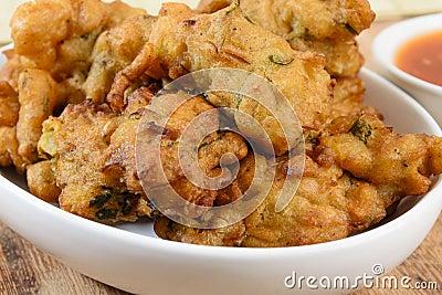 Vegetable Pakora or Onion Bhajis