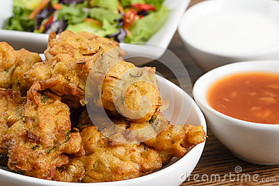 Vegetable Pakora or Onion Bhajis