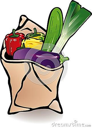 Vegetable paper bag