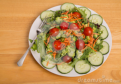 Vegetable Salad with Cherry Tomatoes and Cayenne Peppers