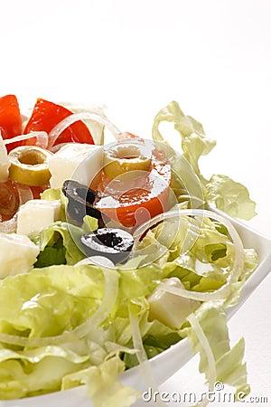 Vegetable salad with feta