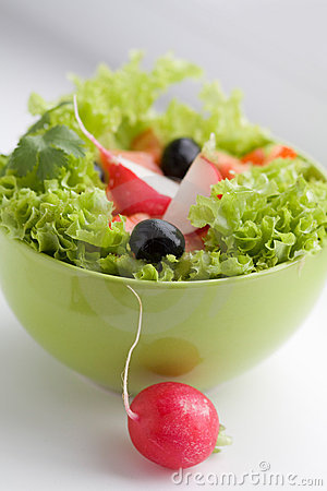Free Vegetable Salad With Red Radish Royalty Free Stock Images - 17618609