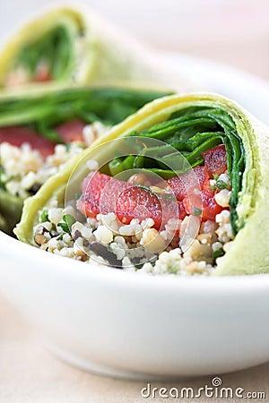 Vegetable sandwich wrap