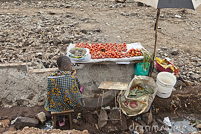 Vegetable seller, Kibera Kenya Editorial Photography