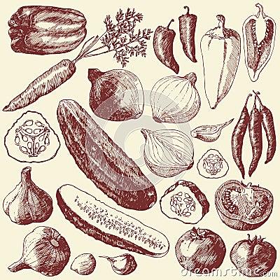 Vegetable set.