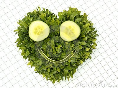Vegetable smiley face