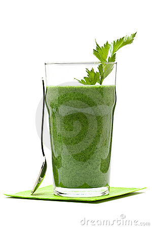 Free Vegetable Smoothie Royalty Free Stock Photography - 19555637