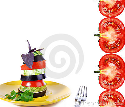 Vegetable snack with tomato