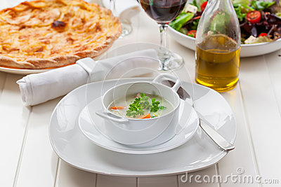 Vegetable soup with bulgur